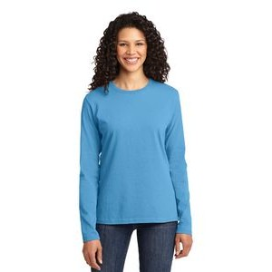 Port & Company® Ladies' Long Sleeve Core Cotton T-Shirt